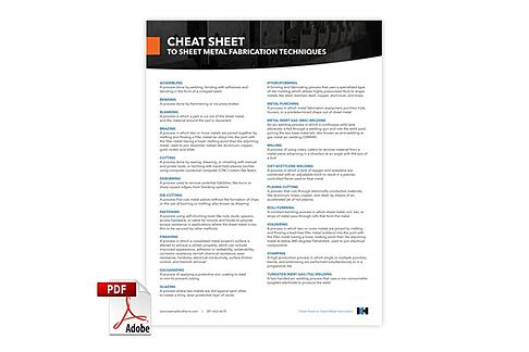 Metal Fabrication Cheat Sheet