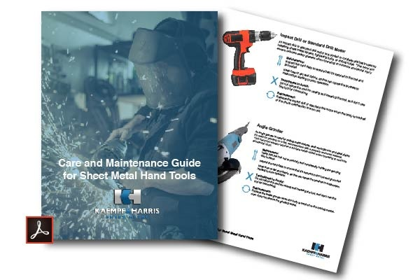 Sheet Metal Hand Tools Care and Maintenance
